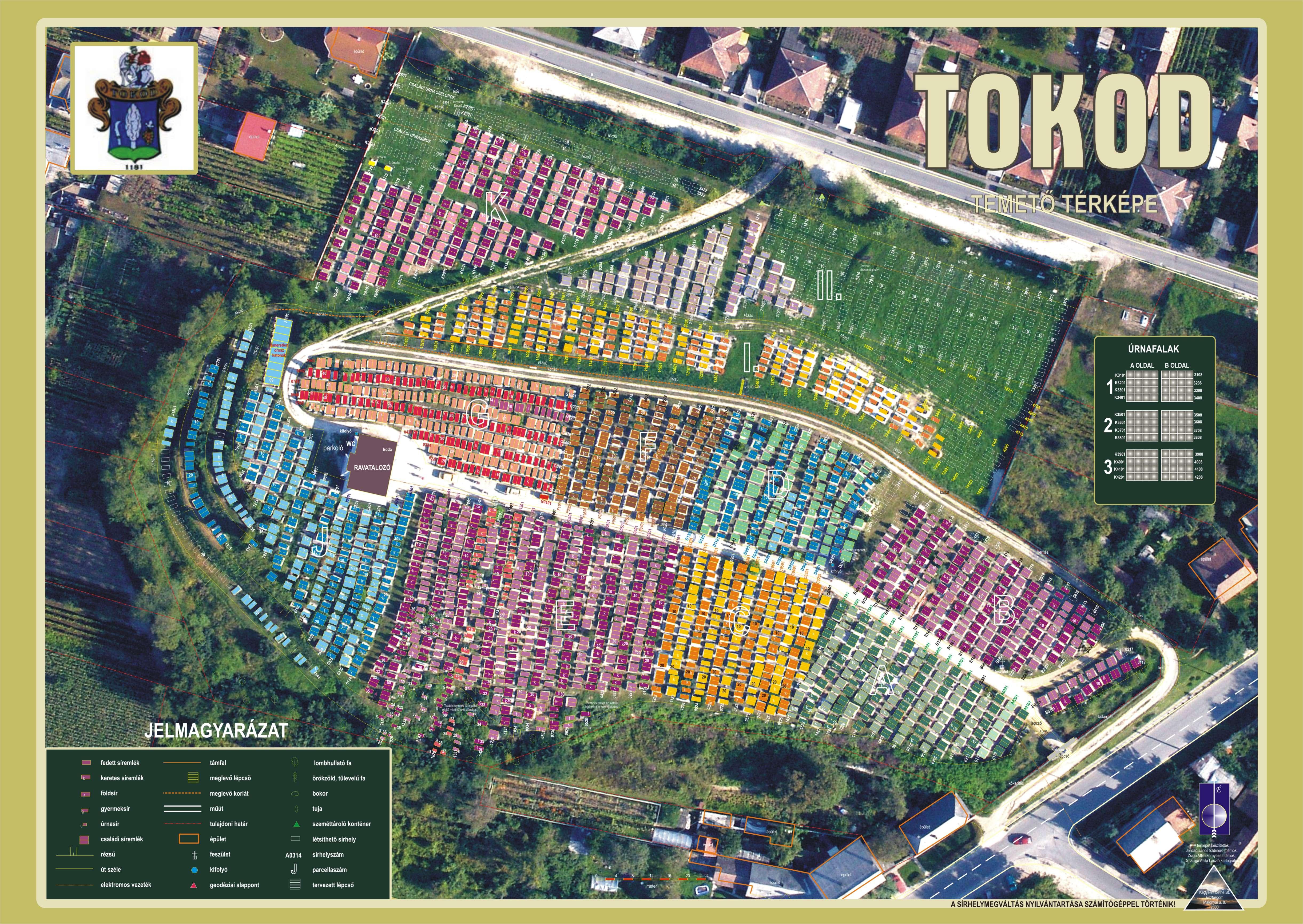 Általunk készített temetőtérkép